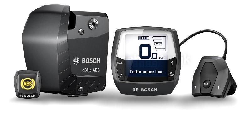 Gros plan motorisation Bosch ebike ABS