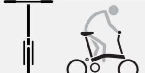 Schéma position sur un Brompton S