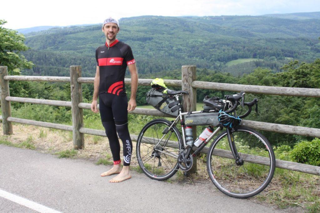 Laurent, cycliste participant à la born to ride