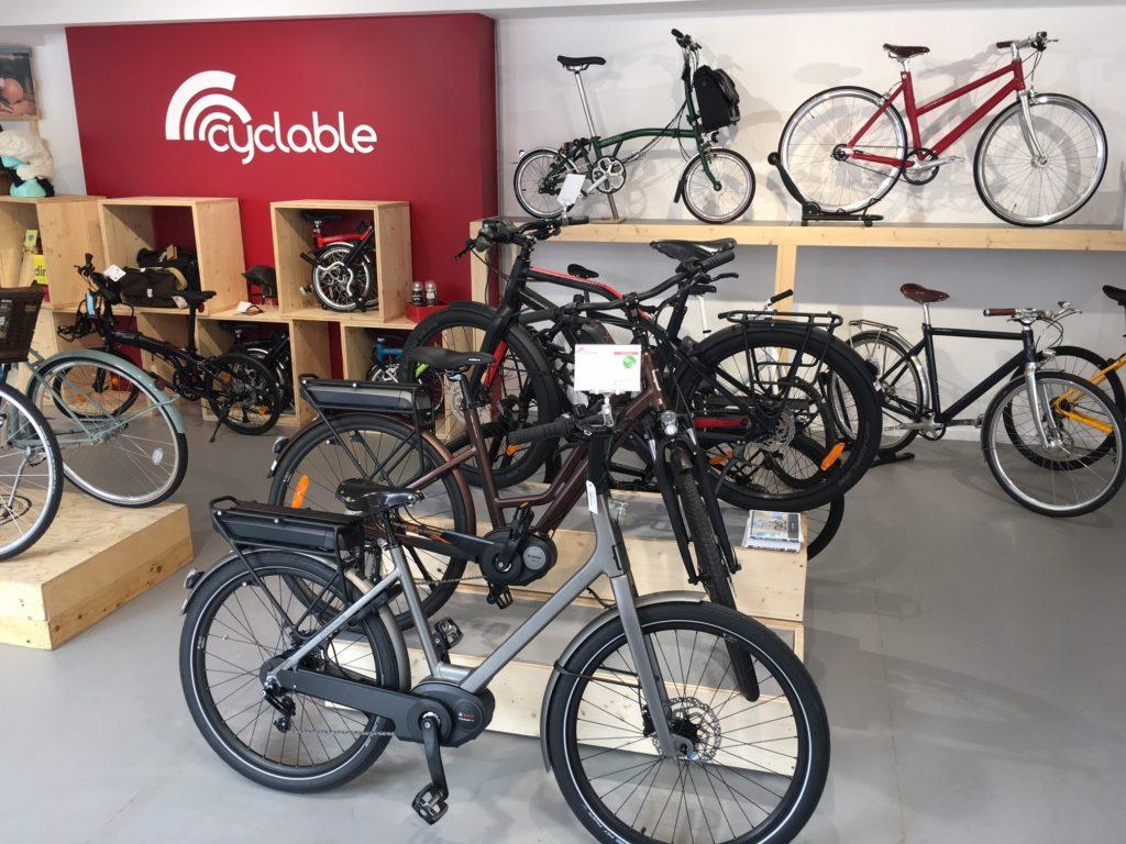 Vélos électriques moustache dans le magasin Cyclable Rueil