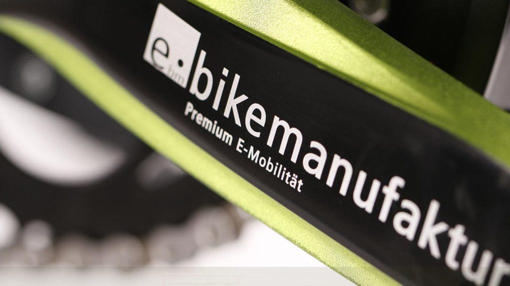 Cadre d'un vélo électrique avec logo eBM