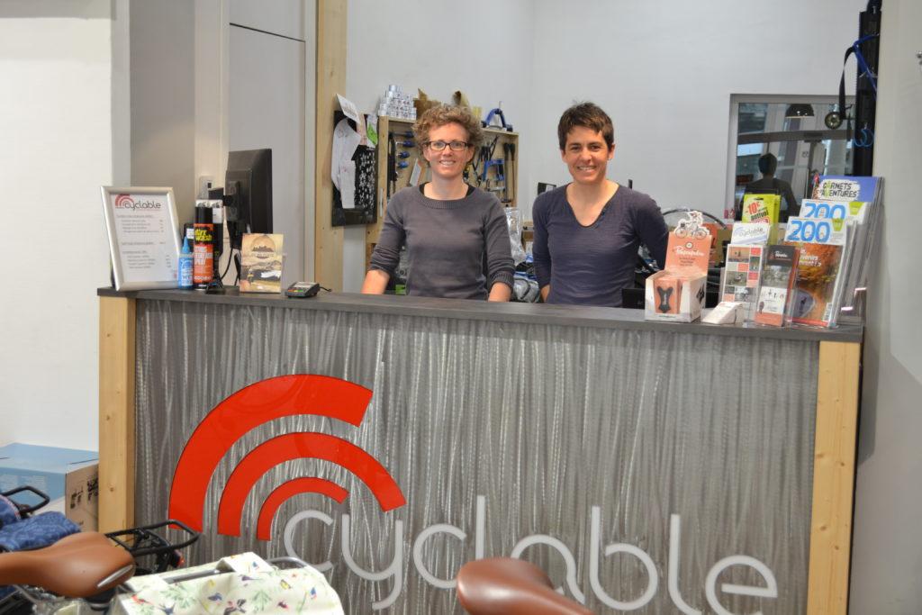 Femmes vélocistes Cyclable Lyon 6