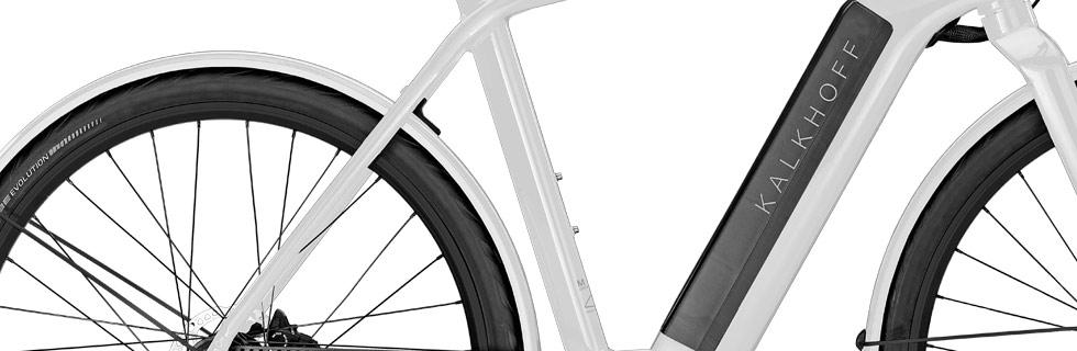 Batterie intégrée sur vélo électrique