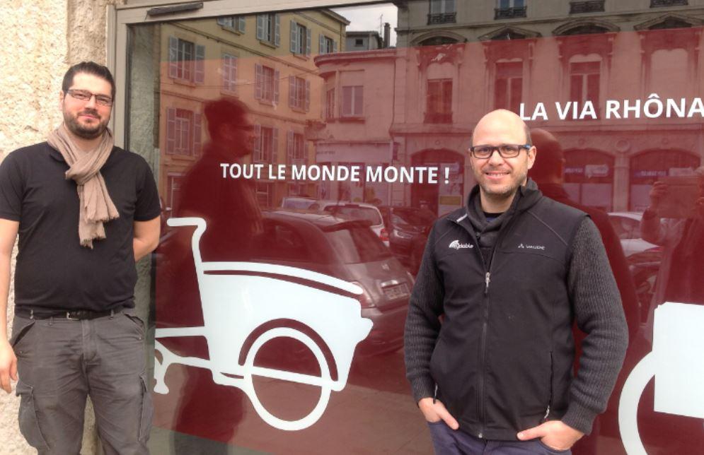 Raphaël et Damien, créateurs de Cyclable Vienne