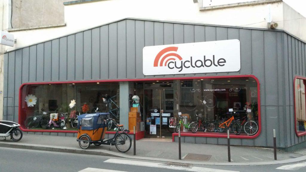 Façade extérieure magasin Cyclable Oullins