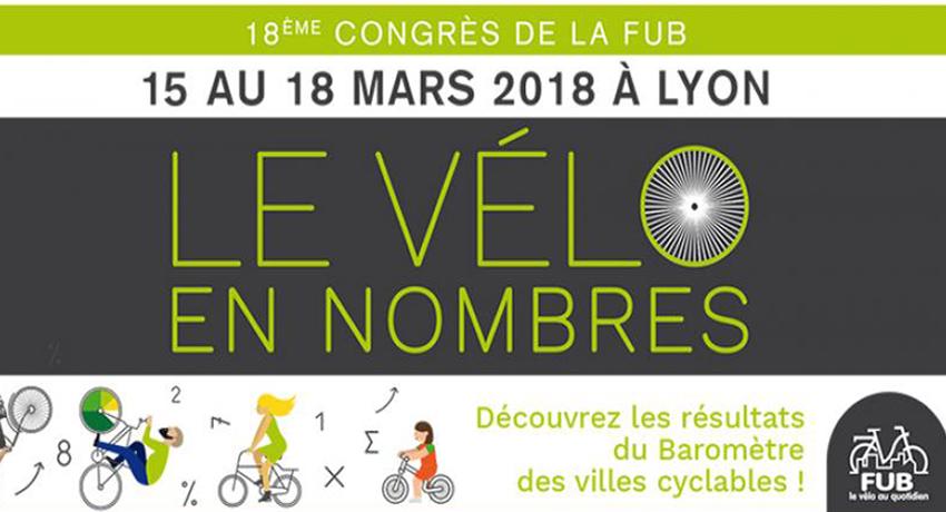 Congrès de la FUB 2018 : «Le vélo en nombres»
