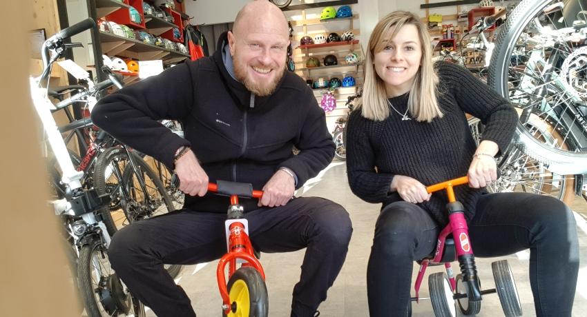 Amandine au magasin de vélos de Boulogne