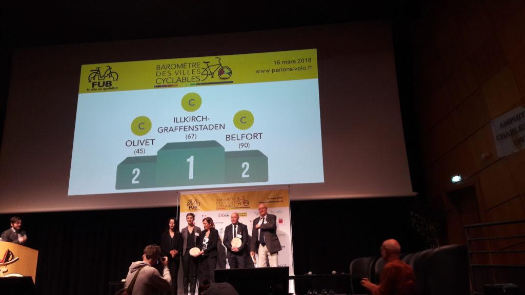 Podium des villes cyclables 2018 20 à 50 000 habitants