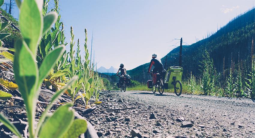 Voyager à vélo, seul ou en famille