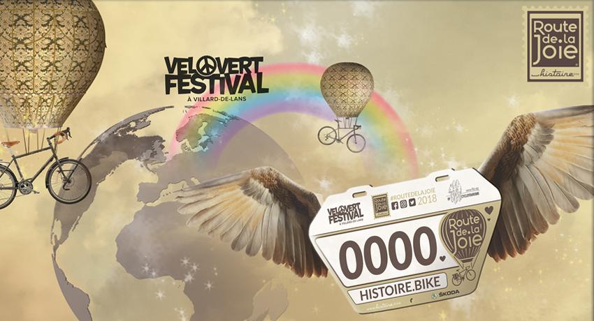 La route de la joie Histoire.bike jusqu'au Vélovert Festival