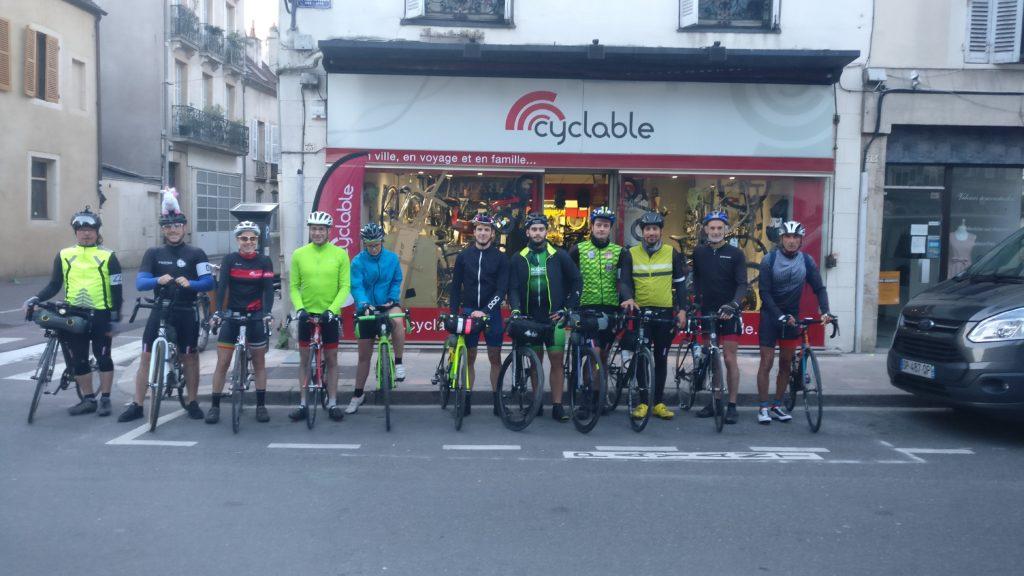 Départ Cyclable Dijon pour les Confluences Cyclable 2018