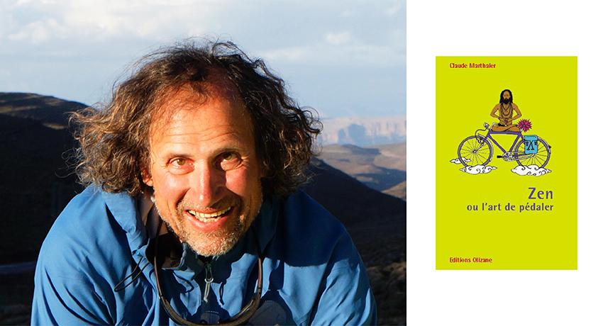 Claude Marthaler avec la présentation de son livre