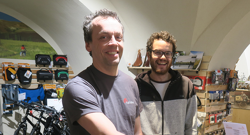 David et Philippe, responsables du magasin Cyclable Chambéry