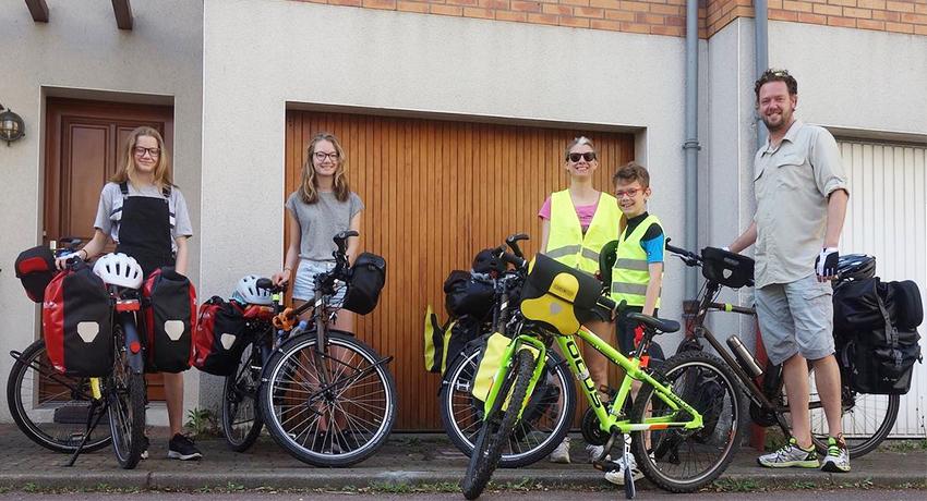 Une année à vélo en famille
