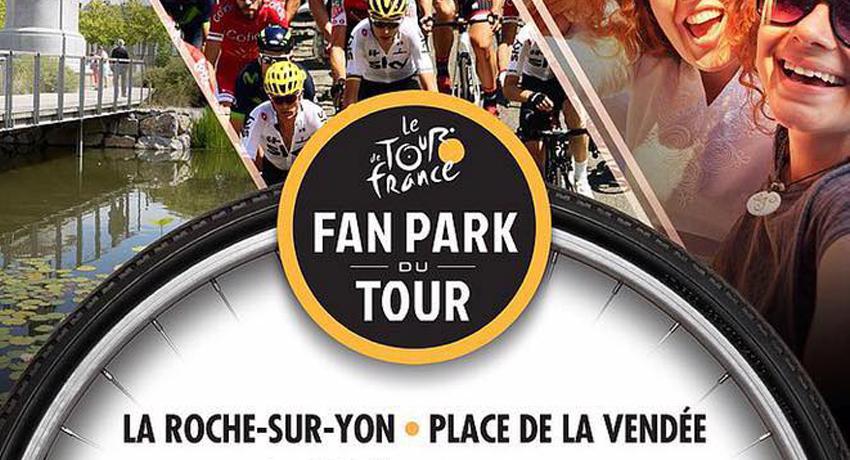 Affiche du Fan park du Tour de France à la Roche sur Yon