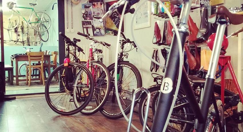 Intérieur du magasin de vélos Cyclable Rouen