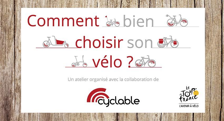 Cyclable partenaire de « l'Avenir à vélo » sur les Ateliers du Tour de France