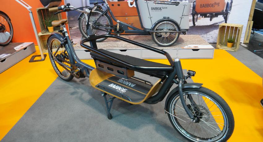 Vélo cargo Babboe slim sur salon Eurobike 2018