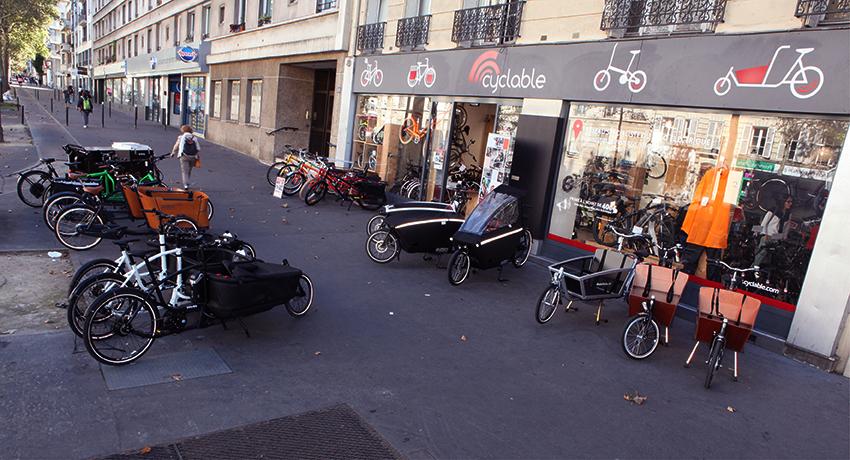 Magasin spécialiste du vélo cargo Cyclable Paris 12