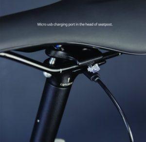 Eclairages vélo intégrés tige de selle