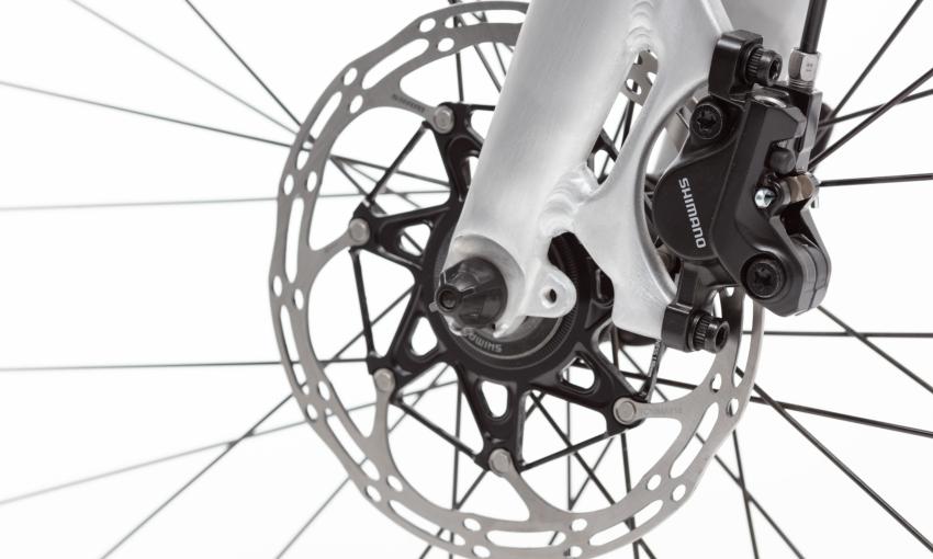 Gros plans sur éléments techniques vélo cargo compact Ahooga