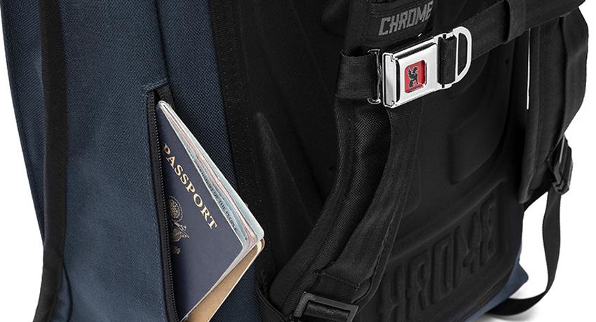 Détails de sacs à dos Chrome