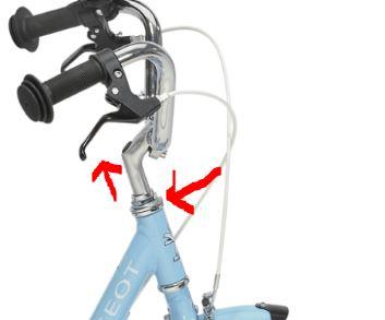 Réglage de la hauteur de potence du vélo enfant Peugeot LJ