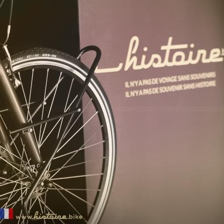 Vélo Histoire Bike en présentation sur un salon
