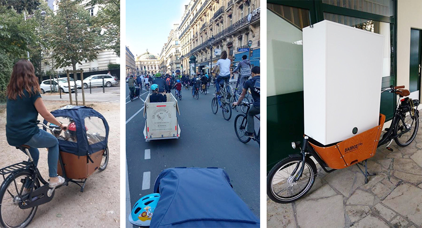 Emilie, Jonathanet leur vélo cargo Babboe city