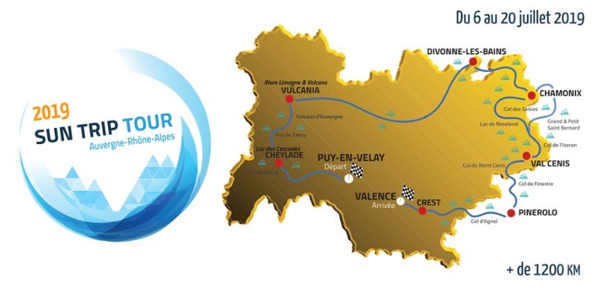 Parcours Sun Trip Tour 2019 Rhône Alpes