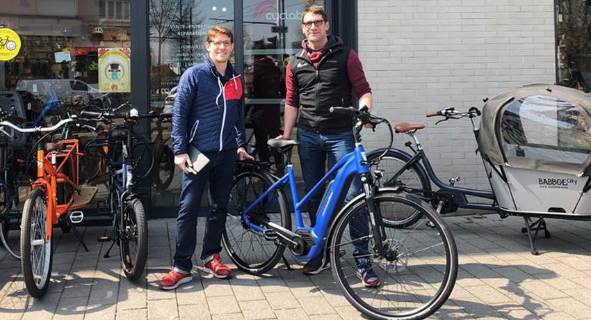 Arnaud et Jean-Charles en préparation du Suntrip Tour 2019