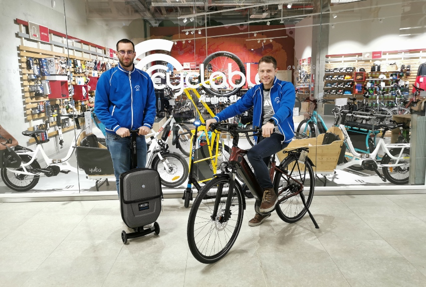 Cyclable Auchan Cloche d'Or: premier magasin Cyclable au Luxembourg