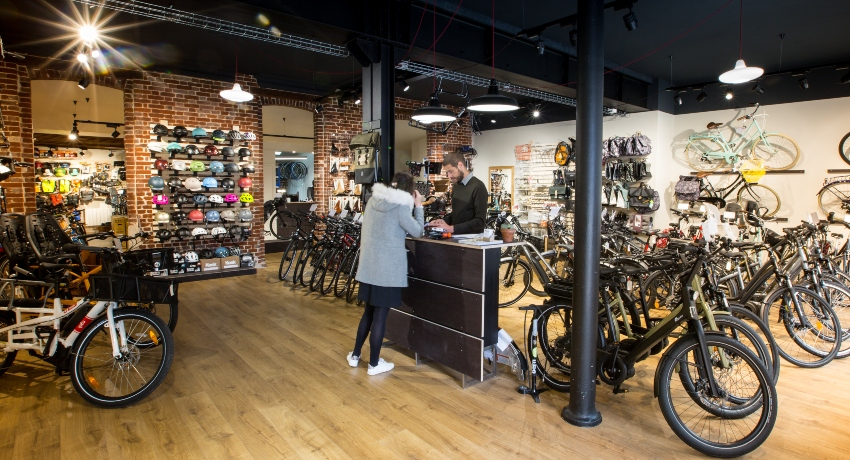 Vue intérieure du magasin franchisé Cyclable Rouen