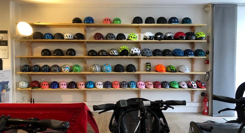 Linéaire de casque de vélos Bordeaux