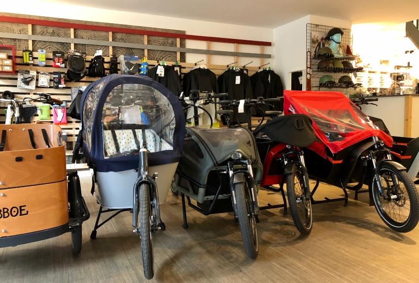 Linéaire de vélos cargos à Cyclable Bordeaux