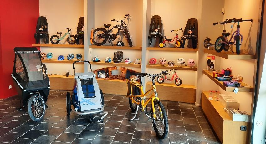 Intérieur du magasin Cyclable Tours Nord