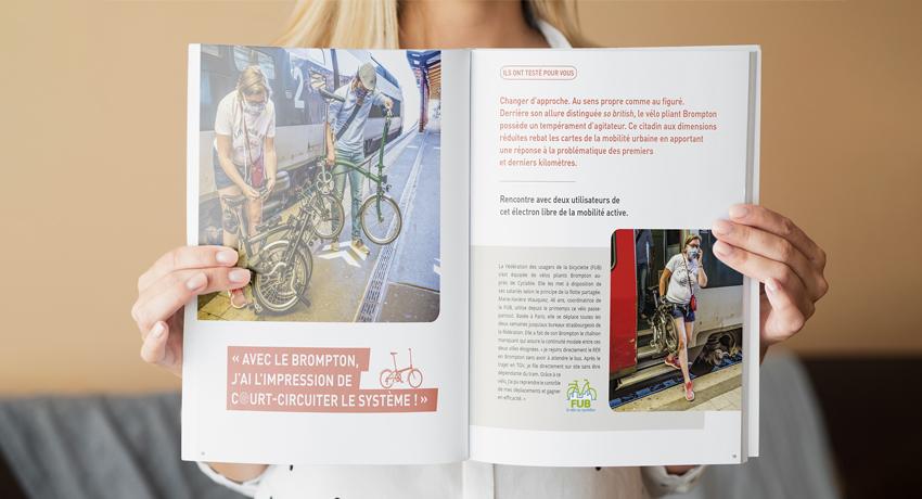 Détail le Mag Cyclable portrait de cycliste