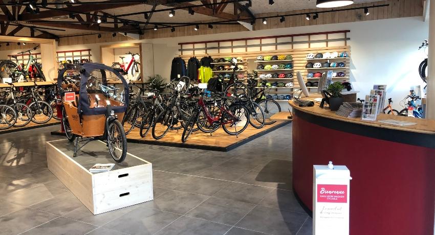 Vue d'ensemble magasin de vélos Rennes Montgermont