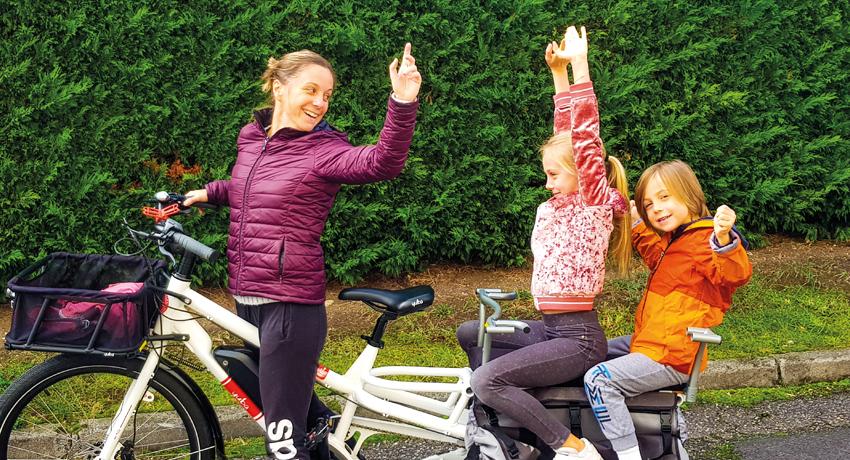Caroline et son vélo longtail