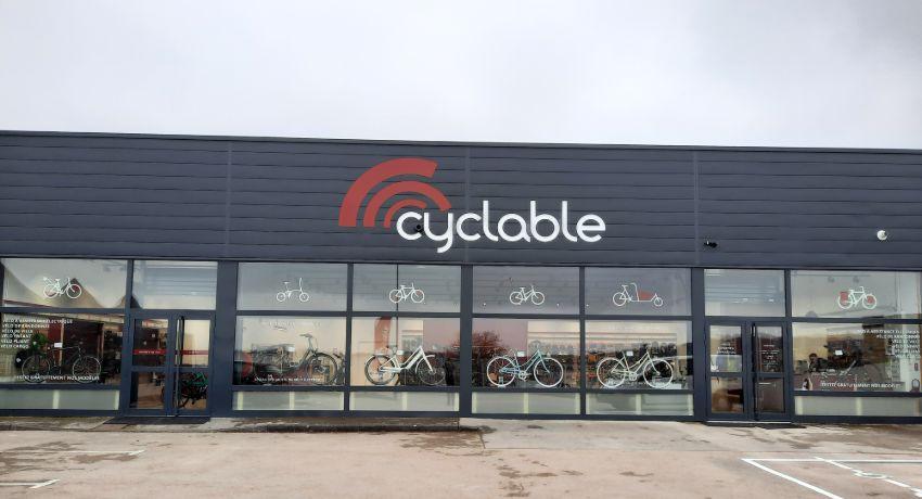 Extérieur magasin de vélos Cyclable Besançon