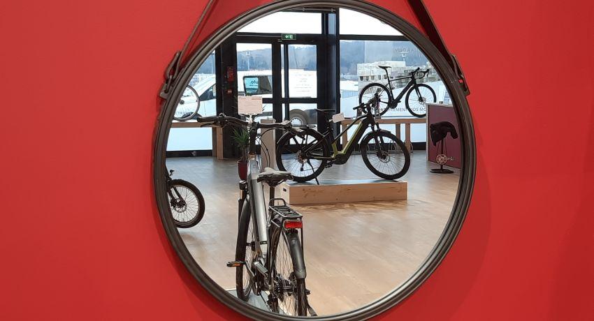 Vélos électriques dans le magasin Cyclable Besançon
